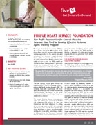 Five9 Military Order of the Purple Heart Service Foundation Case Study